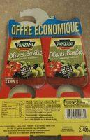 Sauce tomate olives et basilic - Product