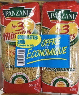 Lot de 2 paquets de Coquillettes cuisson 3 min 500 g - Product