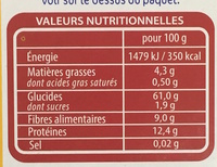 Quinoa Facile - Nutrition facts