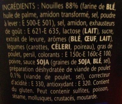 Banzaï Noodle saveur Poulet - Inhaltsstoffe