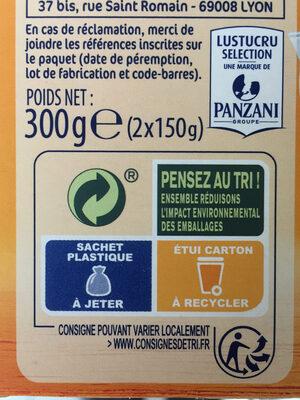 Lustucru quinoa facile quinoa ble lentilles corails carottes - Instruction de recyclage et/ou informations d'emballage - fr