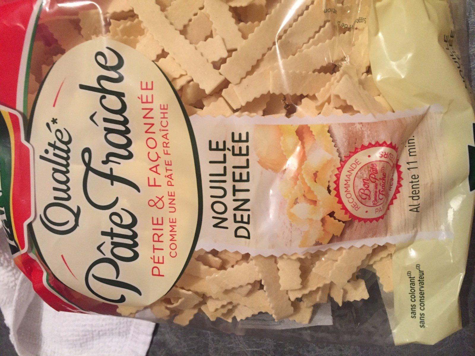Nouille dentelée - Qualité Pâte Fraîche - Ingrediënten - fr