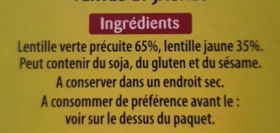 Lentilles faciles - Ingrediënten - fr