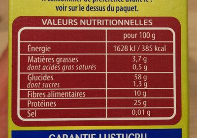 Lentilles faciles - Voedingswaarden - fr