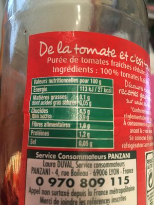 Tomapulp - Nutrition facts - fr