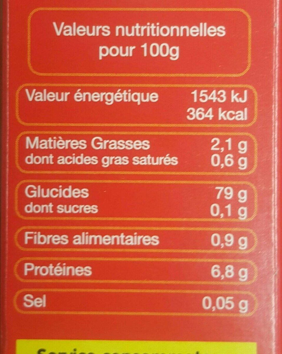 Ta mediterranee kg v2 c12 - Nutrition facts - fr