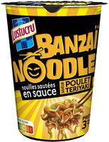 Lustucru banzaï noodle nouilles sautées en sauce poulet teriyaki - Product - fr