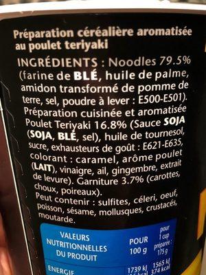 Banzai noodle - Ingrediënten