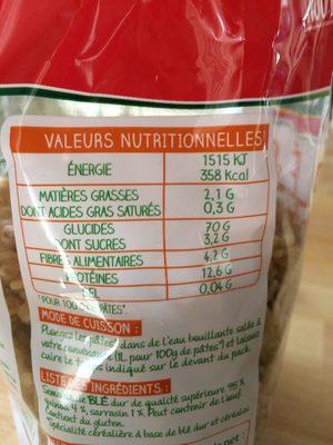 Torti Blé & Céréales - Ingredients