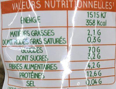 Torti Blé & Céréales - Nutrition facts