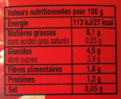 Tomacouli Nature - Informations nutritionnelles