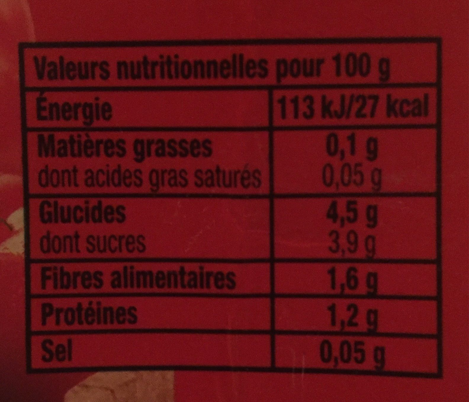 Tomacouli nature - Nutrition facts - fr