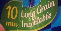 Riz Long Grain Incollable - Ingrédients - fr