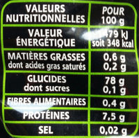 Riz thaï bio - Valori nutrizionali - fr
