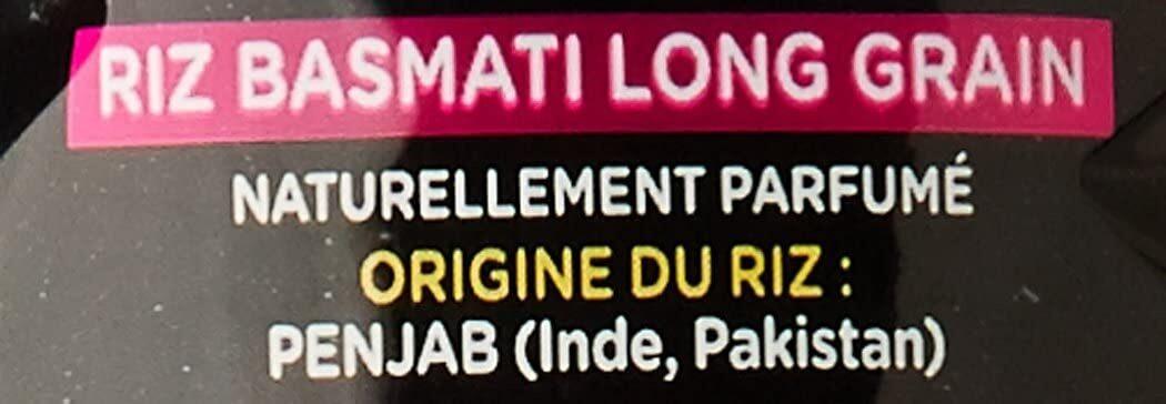 Le Basmati du Penjab - Pure Origine - L'Original - Ingrédients - fr