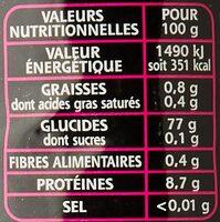 Le Basmati du Penjab - Pure Origine - L'Original - Informations nutritionnelles - fr