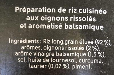 Riz du chef - Ingredients