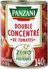 Panzani - Double concentré de tomates Zéro résidu de pesticides boite fer 140g - Product