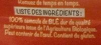 Bio linguine - Ingrediënten - fr