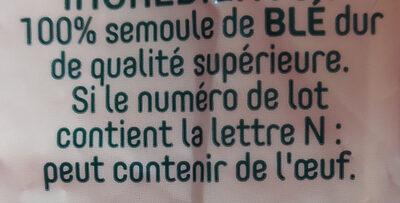 Pates panzani coquillettes 3 kg - Ingrédients - fr