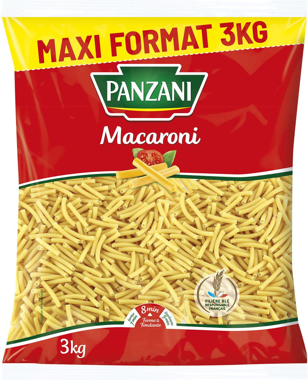 Pates panzani macaroni 3 kg - Produit - fr