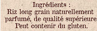 Riz de Camargue Parfumé - Ingredienti - fr