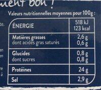 Saumon fumé sauvage - Informations nutritionnelles - fr