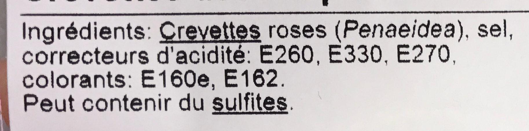 Nos petites crevettes roses - Ingrediënten - fr