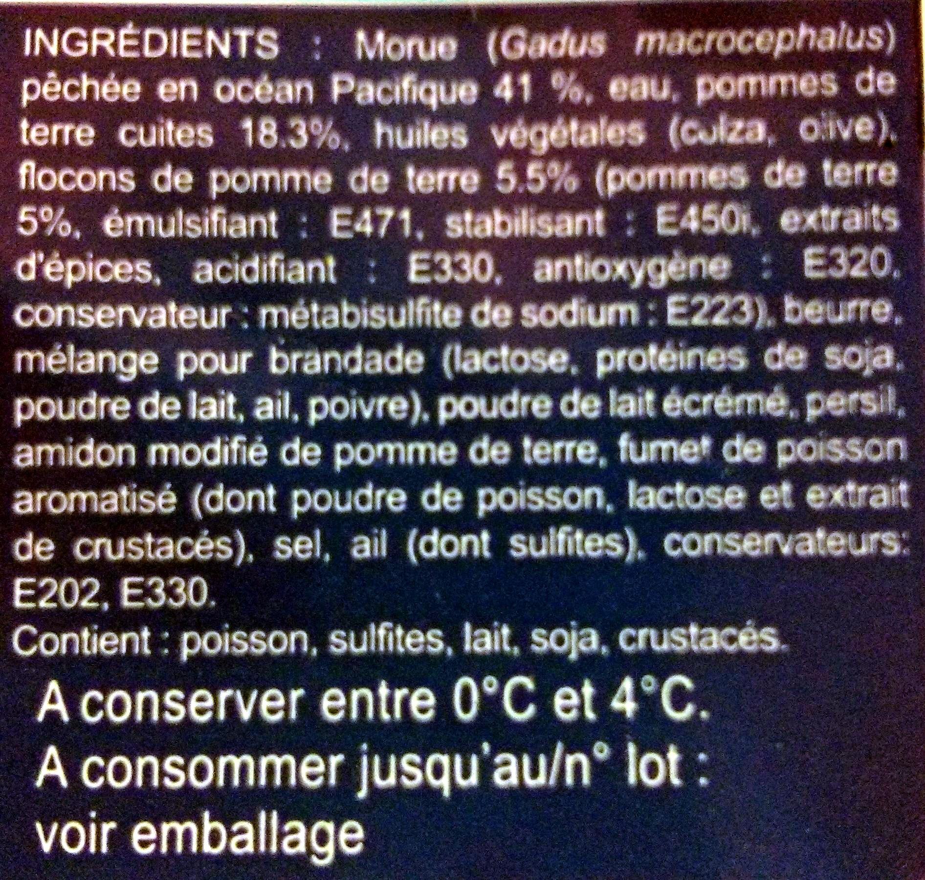 Brandade de Morue Parmentière - Ingredients