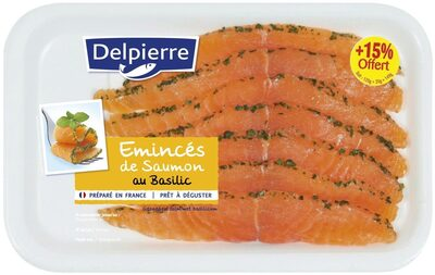 Emincés de saumon basilic140g - Produit