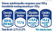 Emincés de saumon basilic140g - Informations nutritionnelles