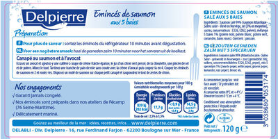 Emincés de saumon aux 5 baies - Ingredients - fr