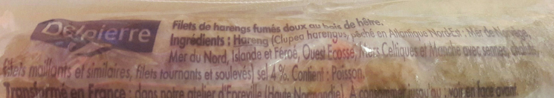 Harengs Fumés Fumage Doux - Ingrédients - fr
