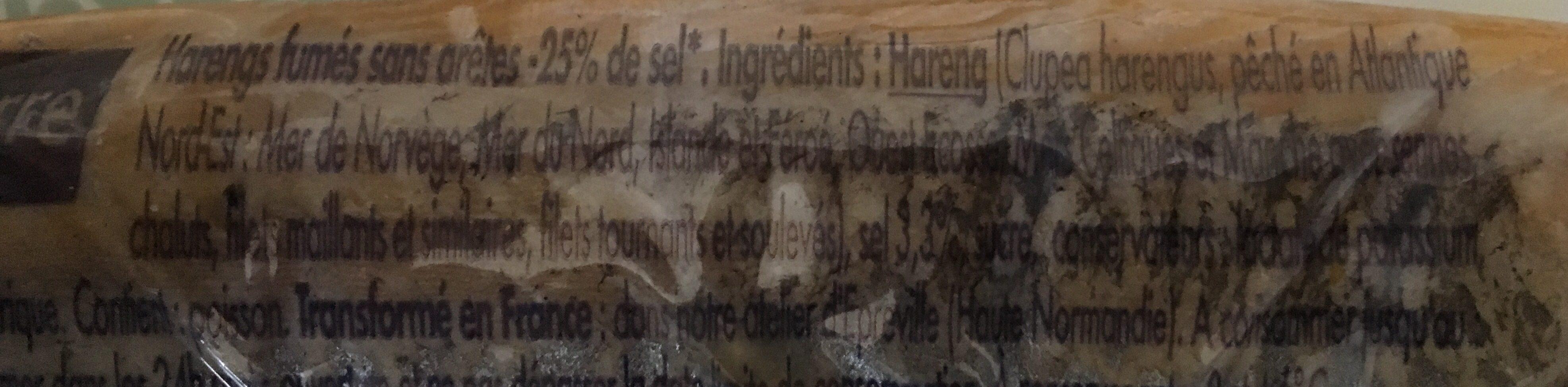 Hareng Fumé - Ingrediënten - fr