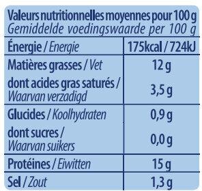Saumon Sauvage - Voedingswaarden - fr
