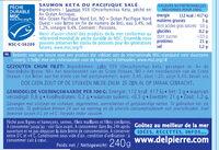 Saumon sauvage Delpierre - Informations nutritionnelles