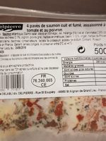 Saumon cuit et fumé - Ingrediënten - fr