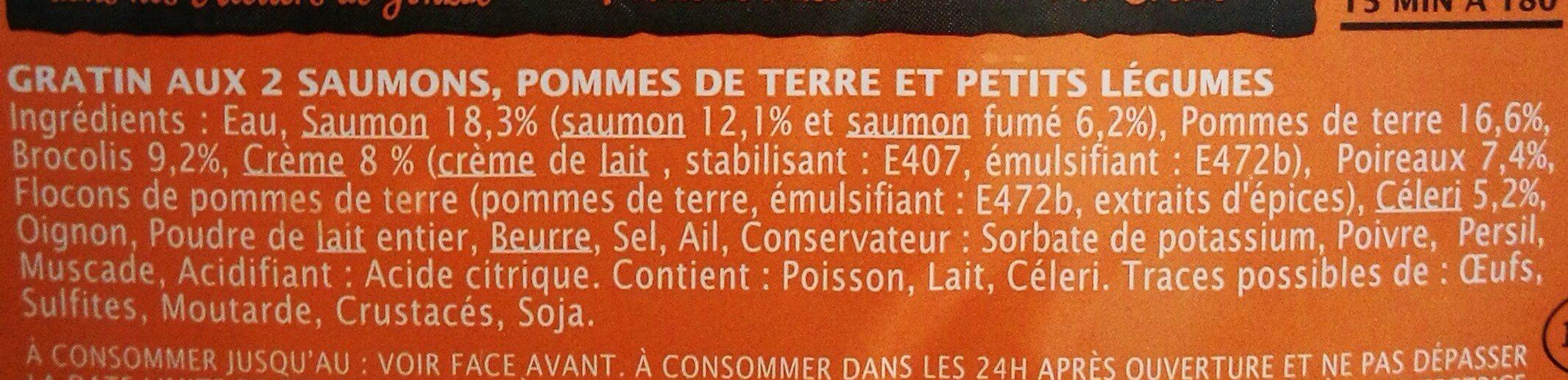 Gratin aux 2 saumons, pommes de terre & petits légumes - Ingrédients - fr