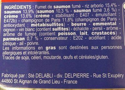 Risotto aux 2 saumons - Ingrédients - fr