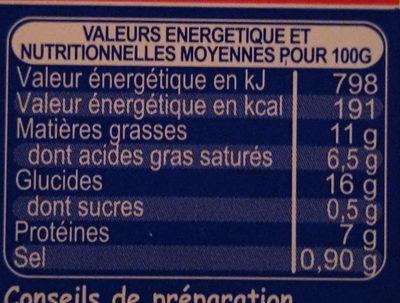 Risotto aux 2 saumons - Informations nutritionnelles - fr