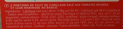 Cabillaud Tomate & Basilic - Ingrédients - fr