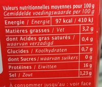 Cabillaud Tomate & Basilic - Informations nutritionnelles - fr