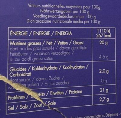 Maquereaux fumes MSC - Voedingswaarden - fr