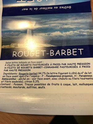 Rouget Barbet - Ingrediënten