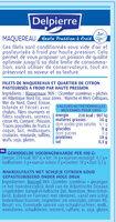 Filets de maquereaux Delpierre pasteurisé à froid par haute pression - Ingrédients