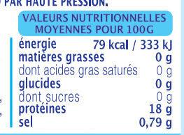 Rouget Barbet - Voedingswaarden - fr
