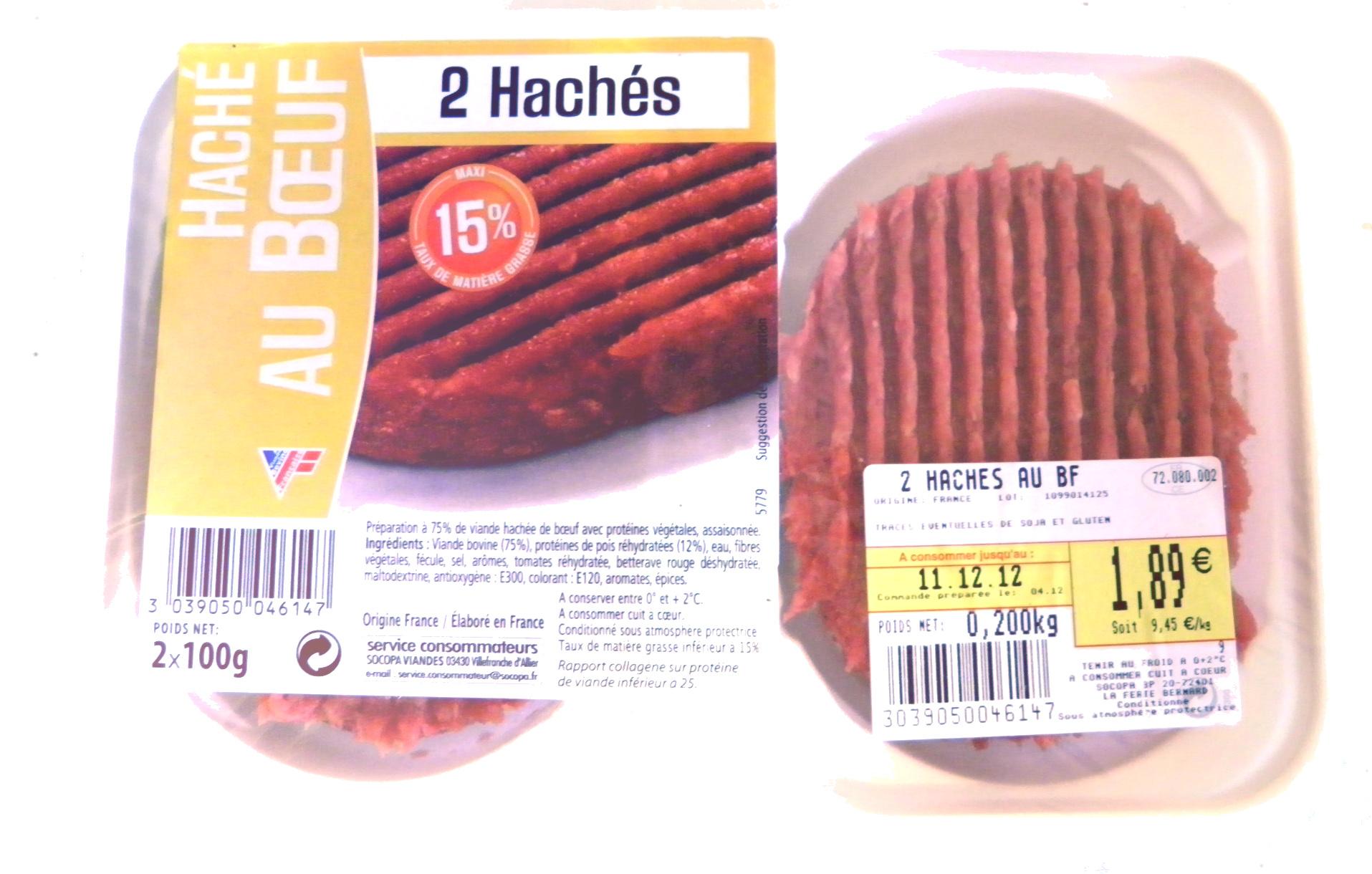 2 Hachés Au Boeuf - Produit