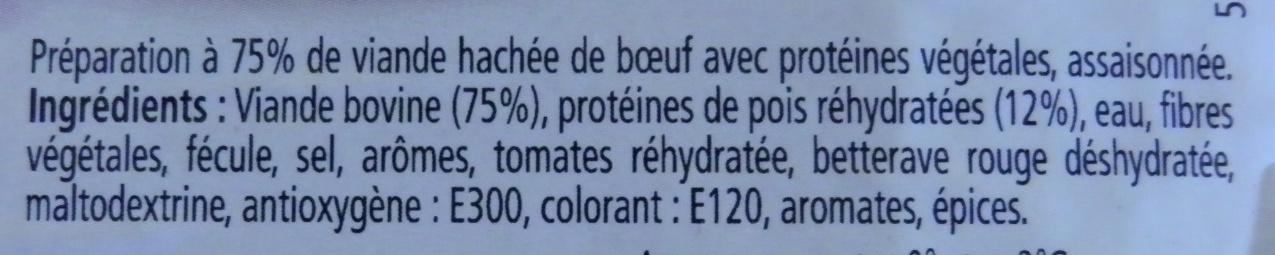 2 Hachés Au Boeuf - Ingrédients