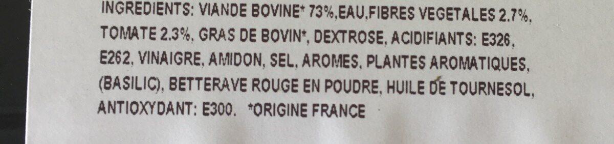 Brochette de boeuf à la provencale - Ingrédients