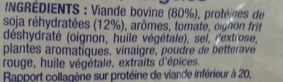 Hache au boeuf pour Bolognaise - Ingrédients